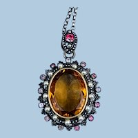 Austro Hungarian, Silver, Gold, And Paste Locket