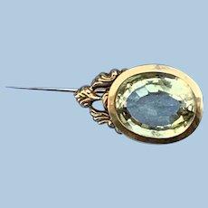 Citrine Halley's Comet Brooch, Gold