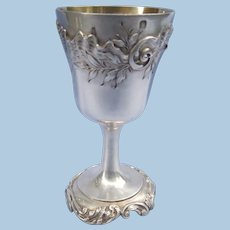 Silver (Sterling) Communion or cordial glass, Victorian