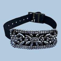 Cut Steel Buckle Bracelet