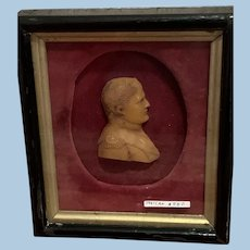 Wax Portrait Miniature of Napoleon, Victorian