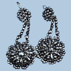 Cut Steel Earrings, Victorian