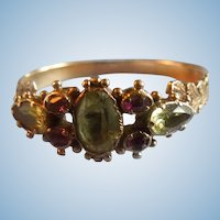 Chrysoberyl and ruby ring, Georgian