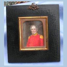 Portrait Miniature of Soldier (Redcoat) on Vellum, Georgian