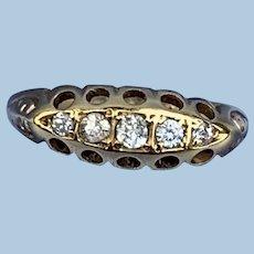 Diamond Band 18 carat, 1913