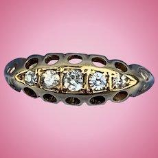 Five Diamond Band, 18 ct, 1906