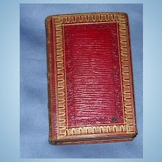Church of England, Book of Common Prayer, red leather, Georgian