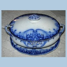 """Covered Sauce With Underplate, """"Grimwades,"""" """"Athens,"""" Victorian"""