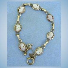 Shell Cameo Bracelet, Gold Filled