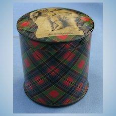 Tartan  Rolled Tape Box, Victorian