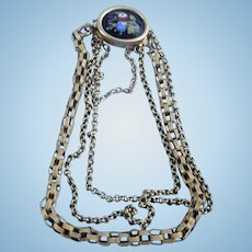 Gold and Porcelain Chain bracelet, Early Victorian