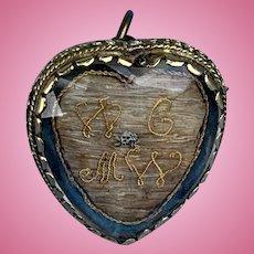 Stuart Crystal Heart, Skull and Crossbones, Pendant/Brooch