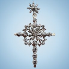 Rose Cut Diamond Cross, Victorian