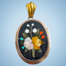 Pietra Dura Picture Locket, Victorian