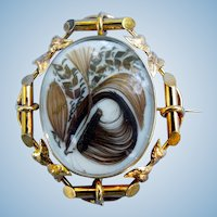 Swivel Picture Locket, Hairwork, Victorian