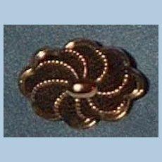 Hair Brooch, Victorian, Gold