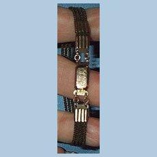 Hair Bracelet, Gold fittings, Victorian