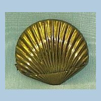 Brass Shell Match Safe/ Vesta, Victorian