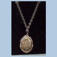Victorian Locket, With Chain
