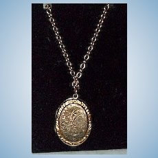 Victorian Locket, With Chain