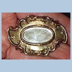 Gold Hair Brooch, 1879