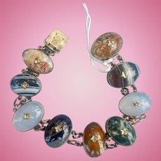 Agate Bracelet, Gold Cased, Victorian