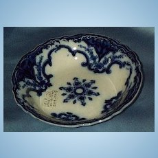 Flow Blue Dessert Bowl, Victorian, Cambridge