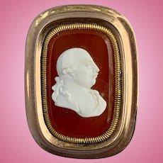 Georgian Cameo Brooch of George III