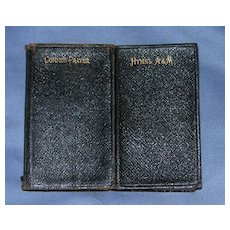 Book of Common Prayer,and Hymns, Ancient and Modern, Two Volumes. Late Victorian
