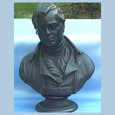 Wedgwood, Black Basalt, Bust of Robert Burns