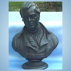 Wedgwood, Black Basalt, Bust of Robert Burns