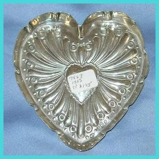 Silver (Sterling) heart-shaped pin tray, Victorian