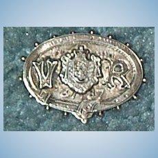 Victoria Silver. Golden Jubilee Brooch, 1897