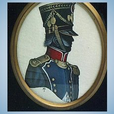 Colored Silhouette of French Soldier