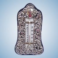 Victorian Thermometer Silver