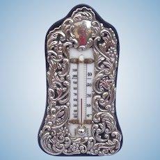 Victorian Thermometer Silver