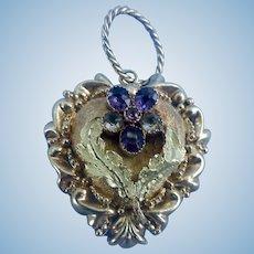 15 Carat, Pansy Heart Pendant