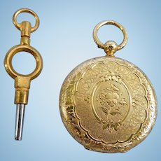 18 ct Hunter case pocket watch, 1820