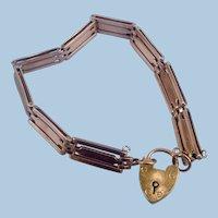 9 carat Gate bracelet, Victorian