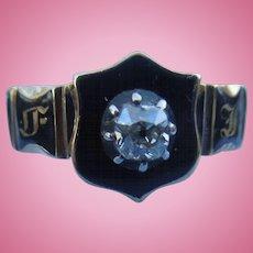 Memorial Ring, With Rose Cut Diamond, Georgian