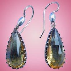 Citrine Earrings, CA 1840-50