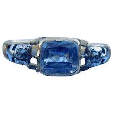 Sapphire and diamond Memorial Ring, 1774