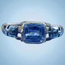 Sapphire and diamond Memorial Ring, 1774