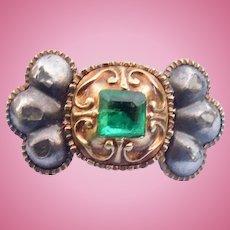 Spanish Emerald and Diamond Ring, Georgian