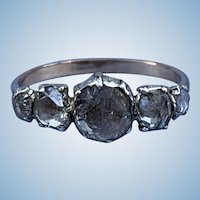 Rose Cut Diamond Cluster Ring, Victorian