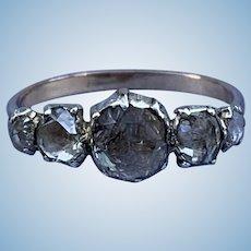 Rose Cut Diamond Cluster Ring, Victorian
