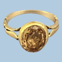 Topaz ring,  Georgian