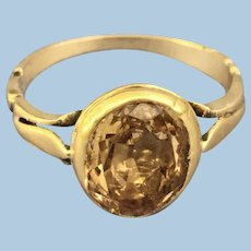 Topaz ring,  Georgian