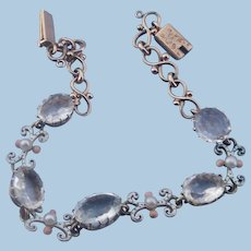 15 Carat Rock Crystal and Enamel Bracelet, Victorian