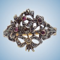 Georgian Giardinetti Ring, Rubies and diamonds, CA 1780